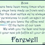 farewell speech in hindi for boss