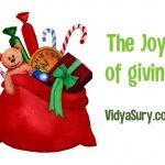 Joy of giving essay in hindi