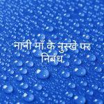 Essay on nani maa ke nuskhe in hindi